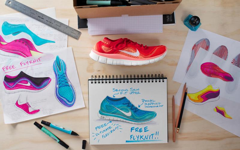 Nike-Free-Flyknit-sketchbook
