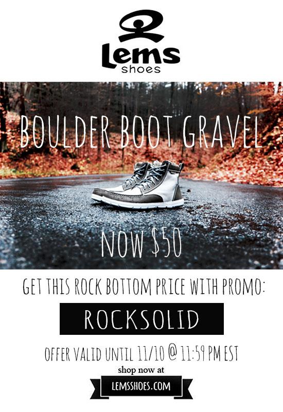 LEMs-Shoes-Boulder-Boot-Gravel-Sale