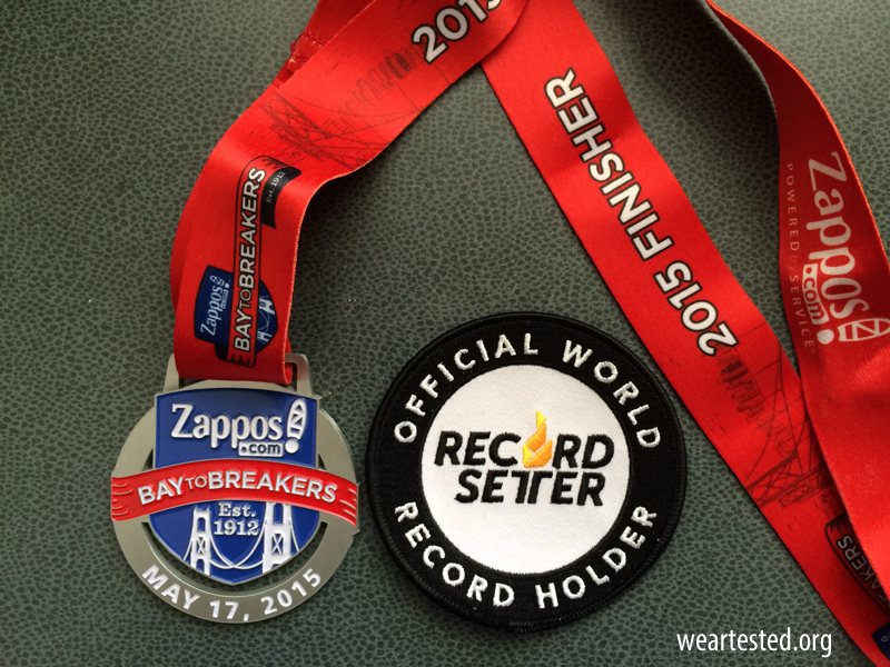 Finisher Medal & Record Setter