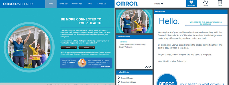 omron-wellness-website