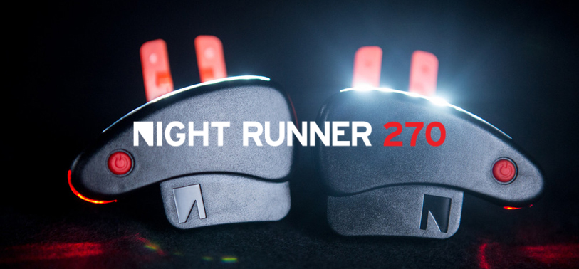 See more and run more safely with the Night Runner 270