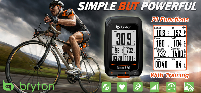 Bryton Sport Rider 310 cycling computer, powerful yet affordable