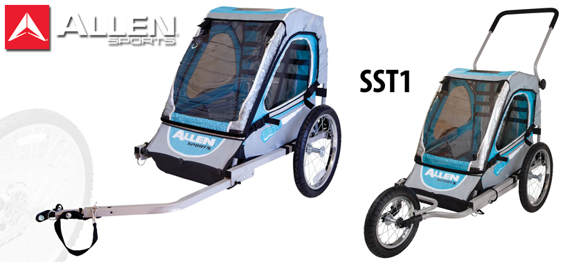 Ride with your child, pets, or cargo using the Allen Sports Child Jogger/Trailer