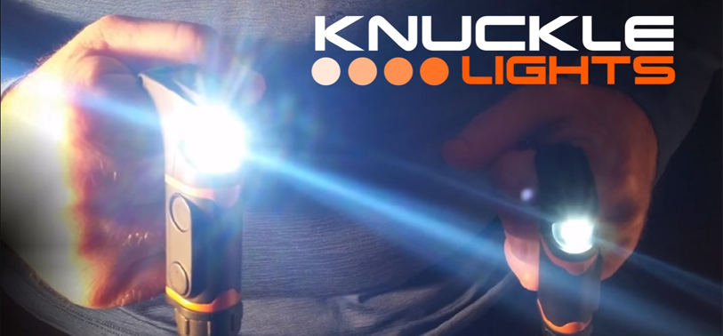 The new and redesigned Rechargeable Knuckle Lights