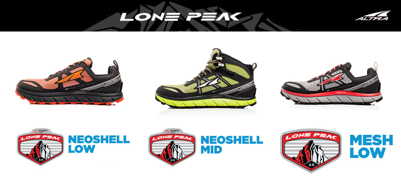 Altra Zero Drop Lone Peak 3.0 Collection now available