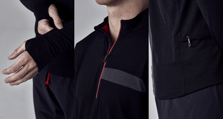 A perfect jersey option for seasonal running. This long sleeve MERINO +  CARBON blend jersey offers great natural thermo-regulation and enhanced  wicking and ... 301af7dbc