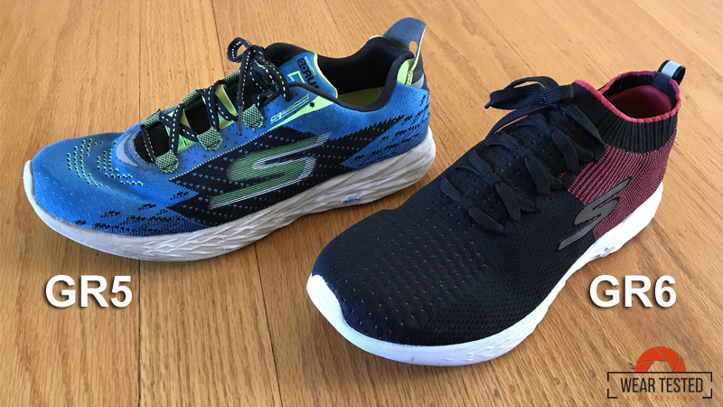 Train with the new light and fast Skechers GORun 6 Wear